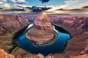 Wall Mural - Horseshoe Bend, Colorado River, Grand Canyon, Arizona