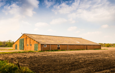 Old barn with a corrugated roof