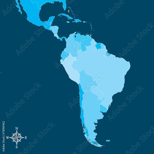 Free Vector Map Of North America.South America Map Vector Map Of South America With North Arrow