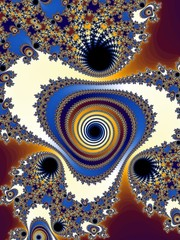 Graceful fractal spiral in a bright colors