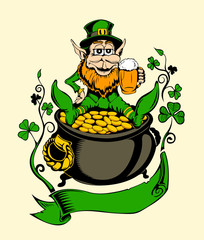 It is image of St. Patrick.