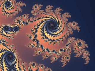 Graceful fractal spiral in a purple colors