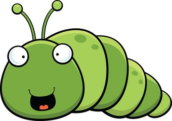 Cartoon Inch Worm Happy
