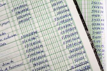 Obraz Handwritten accounting - fototapety do salonu