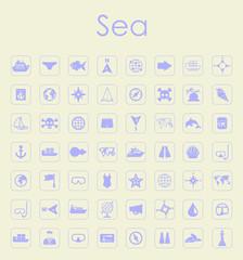 Set of sea simple icons