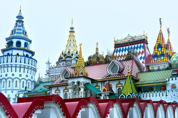 Fototapete - Beautiful view of kremlin in Izmailovo, Moscow, Russia