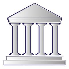 vector illustration of stoa. bank icon
