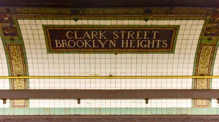 Clark Street Station - New York Subway