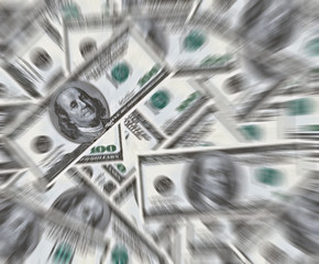 100 dollars banknotes background