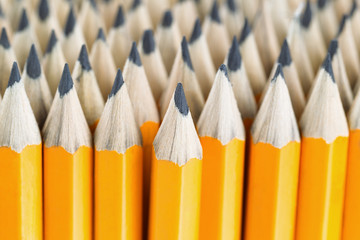 Stack of pencils ready for back to school
