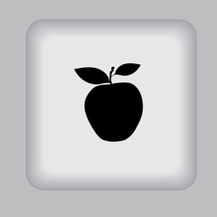 apple, icon, black, vector, flat, illustration