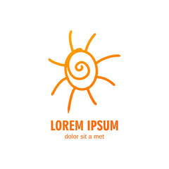 Vector Illustration of a Summer Sun Logo Design Template