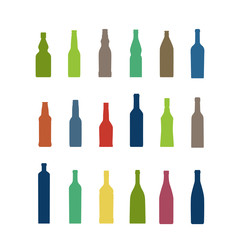 Different bottles collection. Design elements