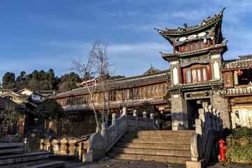 Traditional Building at the Sifang jie in Lijiang,Yunnan, China