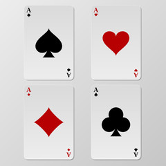 Vector illustration of playing cards aces