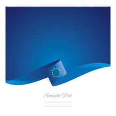 New abstract European Union flag ribbon - fototapety na wymiar
