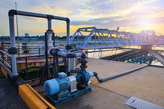 big tank of water supply in metropolitan waterworks industry pla