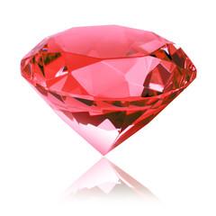 Roter Diamant freigestellt