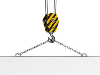 crane hook with plate