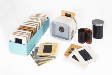 Photographic film and slides of old times