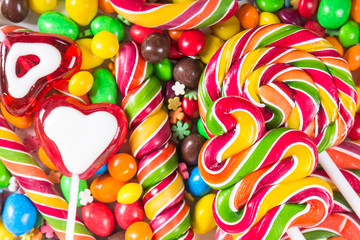 Wall Mural - Background with colorful candies
