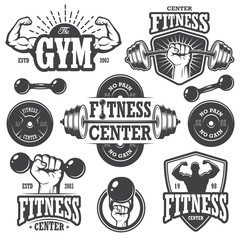 Second set of monochrome fitness emblems