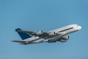 Passenger Airliner in the blue sky