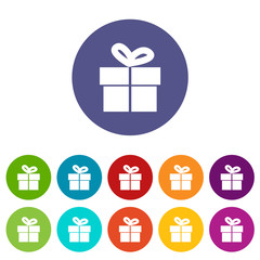 Gift flat icon