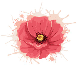 Abstract illustration -- poppy flower