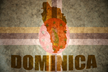 vintage dominica map