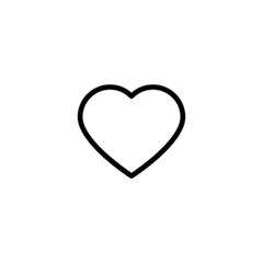 Heart Trendy Thin Line Icon