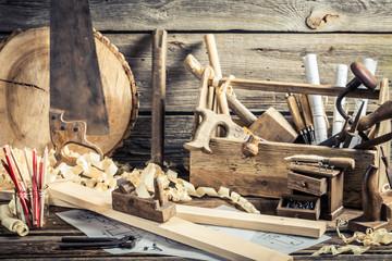 Antique carpentry workshop