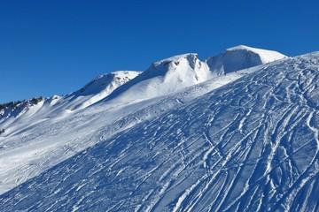 Winter landscape in Stoos, ski area