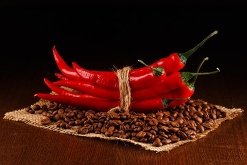 Chili peppers and coffee