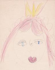 Child picture of princess (queen) portrait