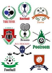 Team sports heraldic badges or logo