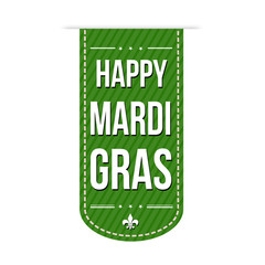 Happy Mardi Gras banner design