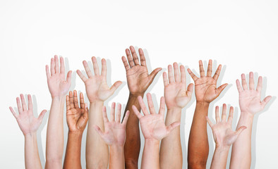 Hands Diverse Diversity Ethnic Ethnicity Variation Unity Concept