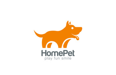 Silhouette Dog Logo design vector. Home Pet shop icon