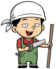 Vector illustration of Carpenter