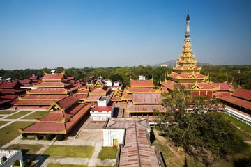 The royal palace in Mandalay - Myanmar