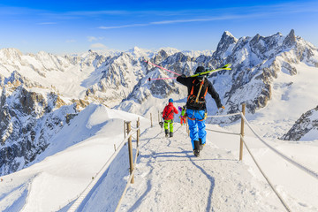 Freeriders, Aiguille du Midi, French Alps