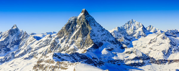 Photo sur Aluminium Alpes Matterhorn, Swiss Alps - panorama