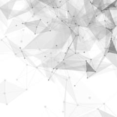 Abstract low poly white bright technology vector background