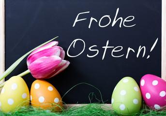 Frohe Ostern eier Tulpe