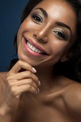 Close-up portrait of a black woman