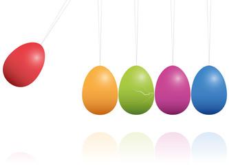 Easter Eggs Newtons Cradle