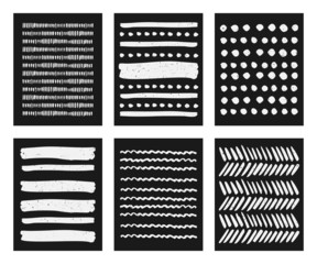 Hand Drawn Brush Strokes Patterns Collection