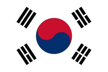 The official flag of South Korea