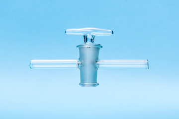 Glass stopcock, chemical laboratory utensil